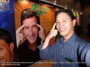 Ka Edong and T Harv Eker at the Millionaire Mind Intensive