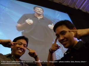 Millionaire Minds Tristan Mirasol, edWIN Ka Edong Soriano and Author-Presenter T Harv Eker in the background