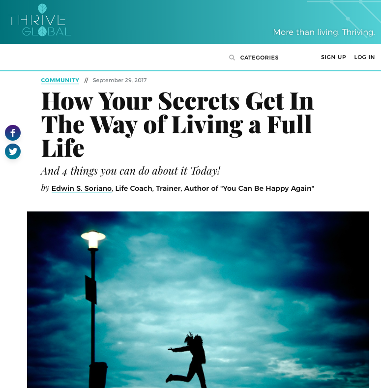 How Your Secrets Get In The Way of Living a Full Life
