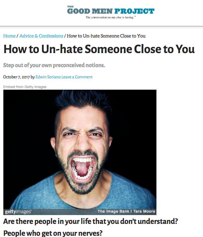 How to Un-hate Someone Close to You