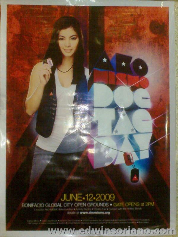 Angel Locsin AKO Mismo Dog Tag Day Poster