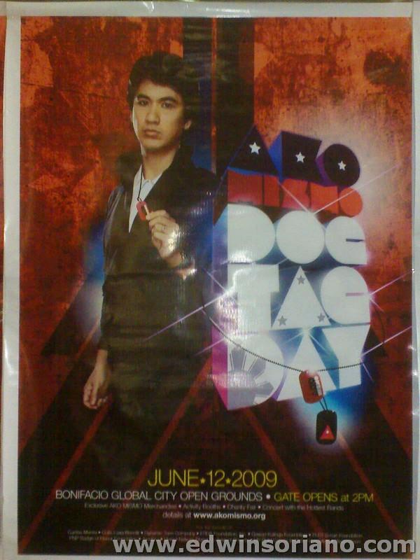 Ely Buendia - AKO MISMO Dog Tag Day Poster
