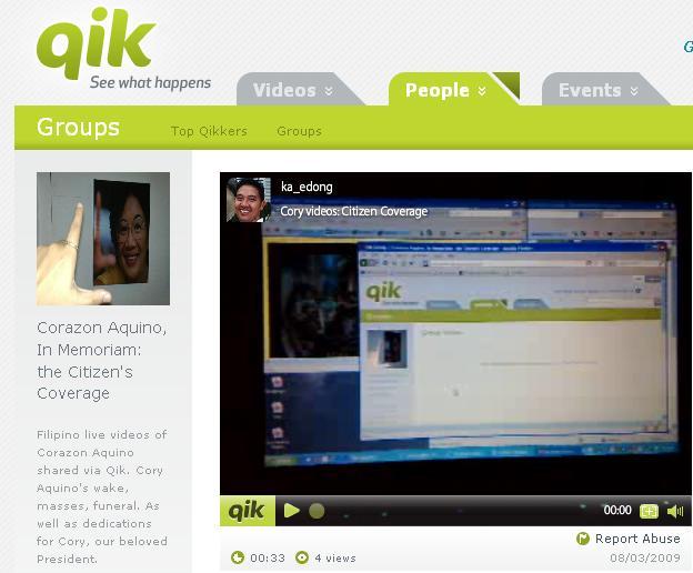Cory Videos on Qik