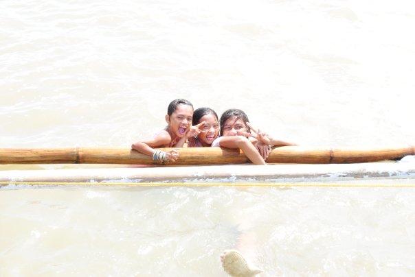 swimming smiling