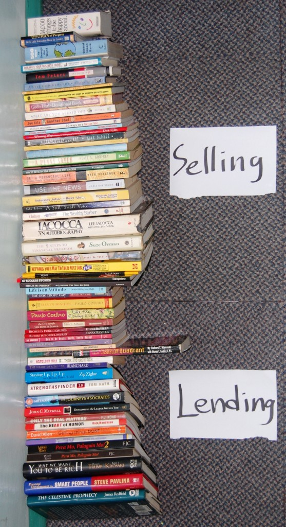Books to Lend, Books to Sell