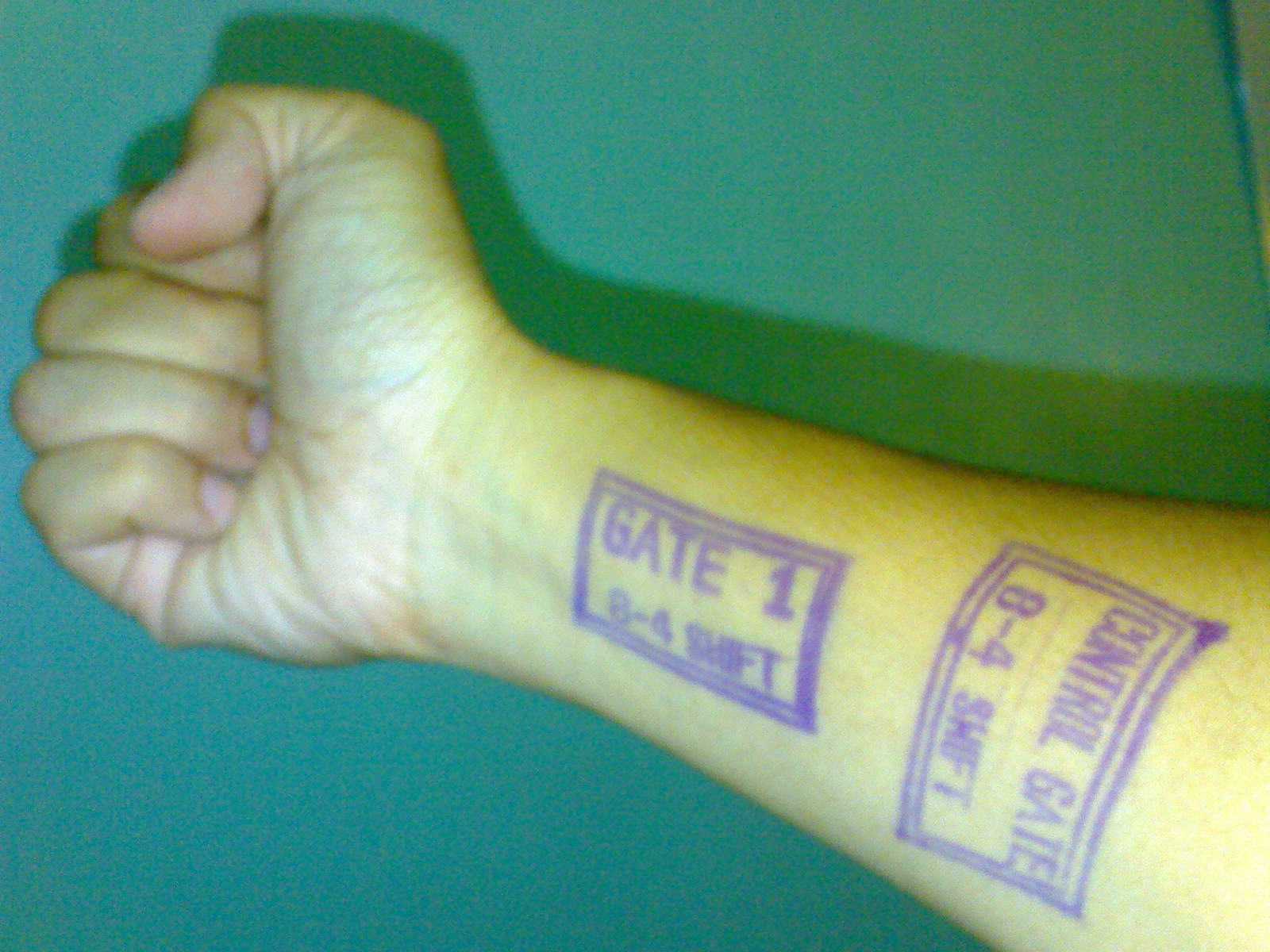 Welcome Stamp, Exit Stamp