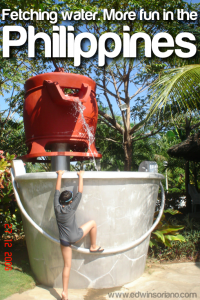 Fetching Water. More fun in the Philippines - Leisure Coast, Dagupan, Pangasinan