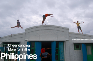 Cheer dancing! More fun in the Philippines! Location - Batanes
