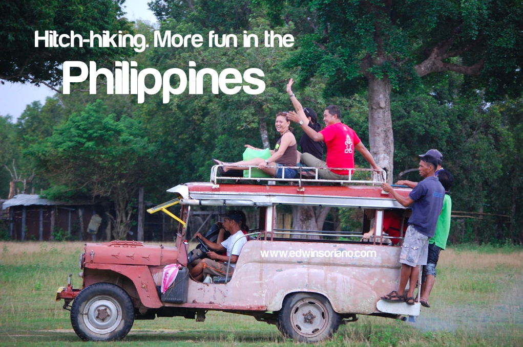 Hitch hiking! More fun in the Philippines! Location: Coron, Palawan