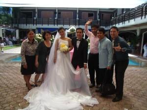 Cesar Marries Gema! (L-R) Grace, Rhea, Gema, Cesar, Dex, Erik, Edong