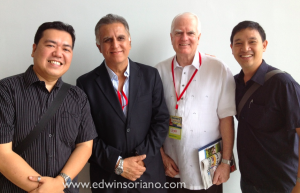 "Fitz Villafuerte, Raju Mandhyan, Scott Dowd and Edwin Soriano planning the ""Good Ole Book Swap"""