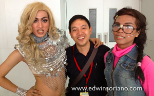 Lady Gaga and friend at the SMX Money Summit and Wealth Expo