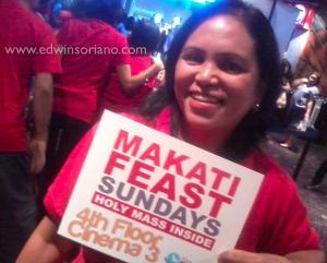 Makati Feast Greeter (Glorietta Cinema 3, 9:30am)
