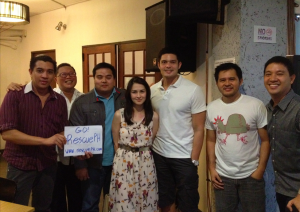 Dingdong Dantes, Marian Rivera and members of the RescuePH team