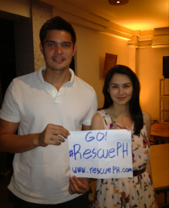 Dingdong Dantes and Marian Rivera for RescuePH