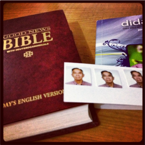 Morning Exercise: Bible, Didache, Morning Pages, Call mom and dad