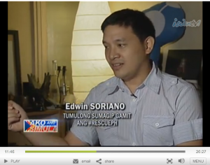 edWIN Ka Edong Soriano on Ako ang Simula ABS-CBN for RescuePH