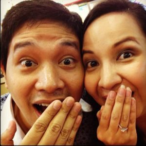Rezza and edWIN are Engaged in Happiness