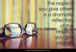 The Respect You Give Others ...