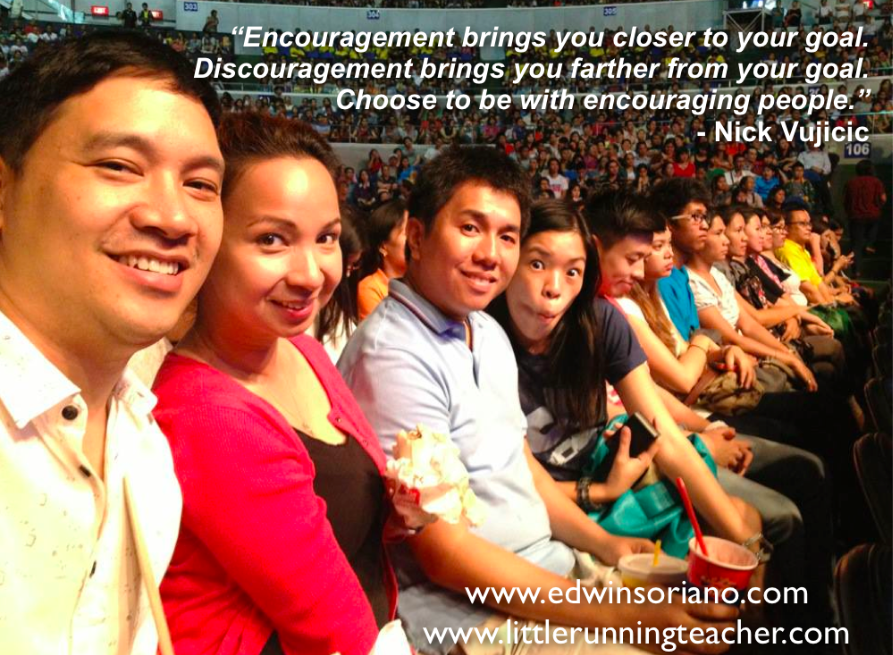 Choose to be with Encouraging People