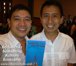 EdWIN Ka Edong Soriano with Bestselling Authors Mentor Bo Sanchez
