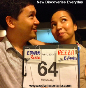Edwin with Fiancee Rezza at Discovery Weekend