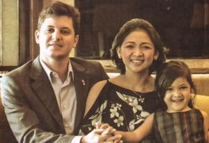 Amb Roberto Vallarino, Shelah Lardizabal-Vallarino and their daughter Stephanie