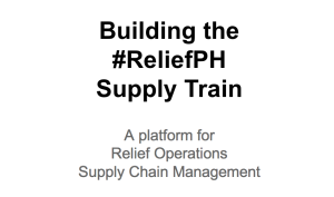 ReliefPH Supply Train