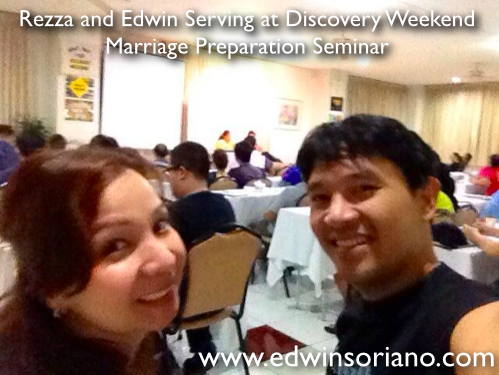 Rezza and Edwin Serving at the Discovery Weekend March 2014