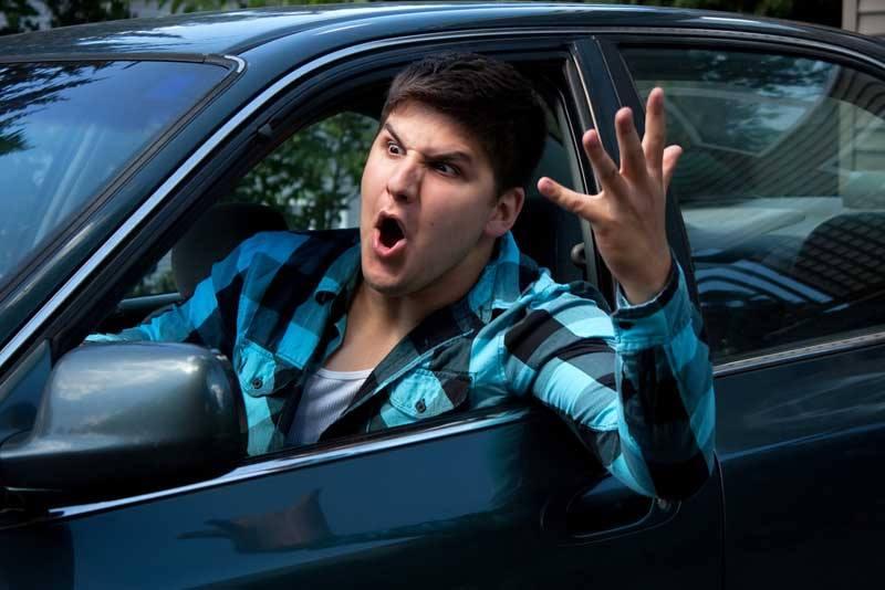 Mad man driving