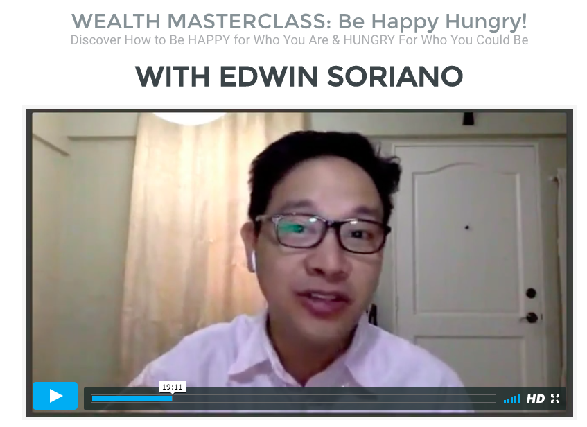 Wealth Master Class with Coach Edwin Soriano